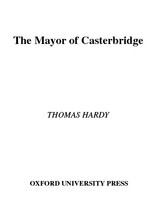 The mayor of Casterbridge /
