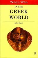 Who's who in the Greek world /