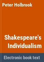 Shakespeare's individualism /
