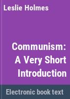 Communism : a very short introduction /