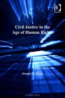 Civil justice in the age of human rights /