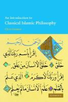 An introduction to classical Islamic philosophy /