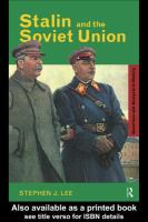 Stalin and the Soviet Union /