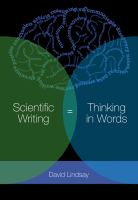 Scientific writing : thinking in words /