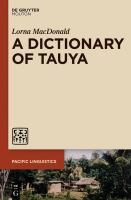 A dictionary of Tauya /