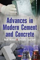 Advances in modern cement and concrete /