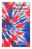 Special relations : the Americanization of Britain? /