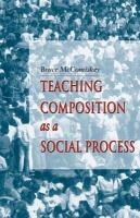 Teaching composition as a social process /