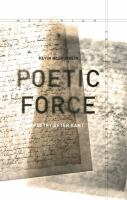 Poetic force : poetry after Kant /
