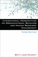 International perspectives on organizational behavior and human resource management /