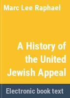 A History of the United Jewish Appeal