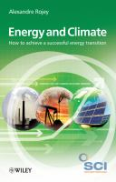 Energy & climate how to achieve a successful energy transition /