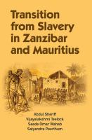 Transition from slavery in Zanzibar and Mauritius /