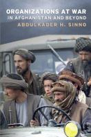 Organizations at war in Afghanistan and beyond /