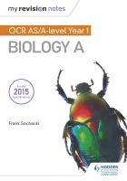 My Revision Notes : OCR AS Biology A Second Edition.