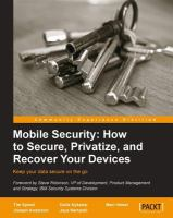 Mobile Security : How to secure, privatize and recover your devices /