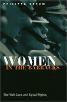 Women in the barracks : the VMI case and equal rights /