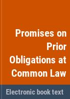Promises on prior obligations at common law /