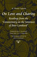 On love and charity : readings from the Commentary on the sentences of Peter Lombard /