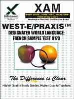 Designated world language: French sample test : teacher certification exam /