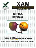 AEPA 05 History teacher certification exam /