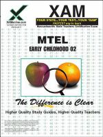 MTEL : Early Childhood 02, teacher certification exam /