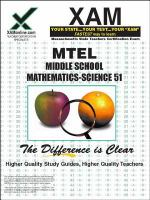 Middle school mathematics/science : MTEL 51 : teacher certification exam /