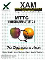 MTTC 23 French sample test teacher certification exam /