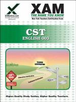 NYSTCE CST English teacher certification exam 003 /