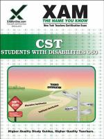 NYSTCE CST Students with Disabilities Teacher certification exam 006 /