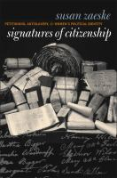 Signatures of citizenship : petitioning, antislavery, and women's political identity /